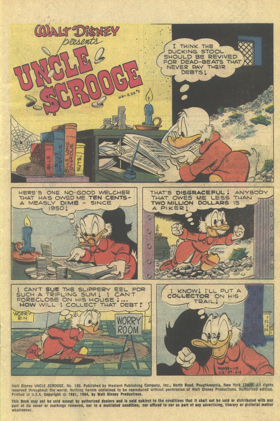 Uncle Scrooge (1953) Issue #189 #189 - English 3