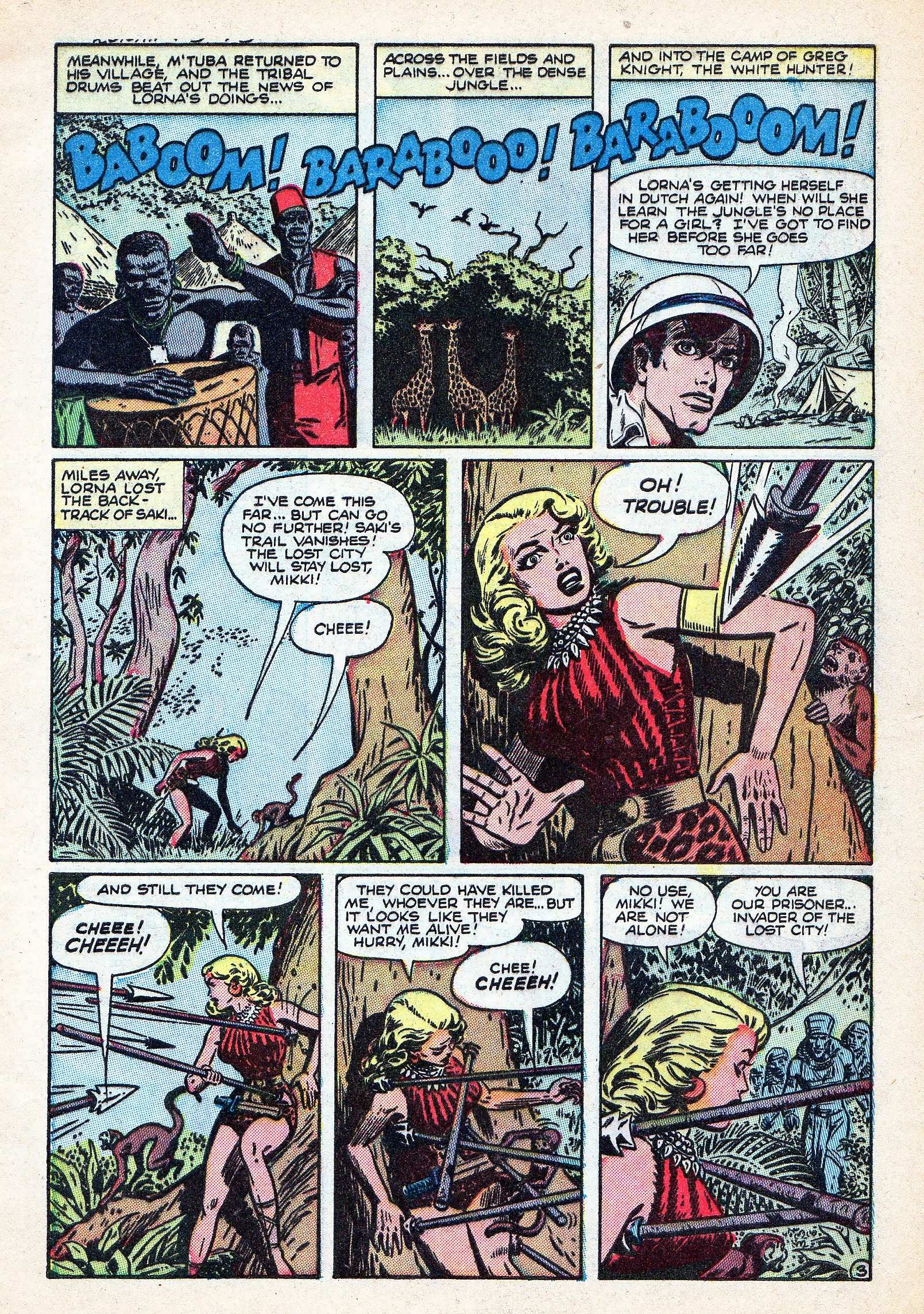 Read online Lorna, The Jungle Queen comic -  Issue #3 - 5