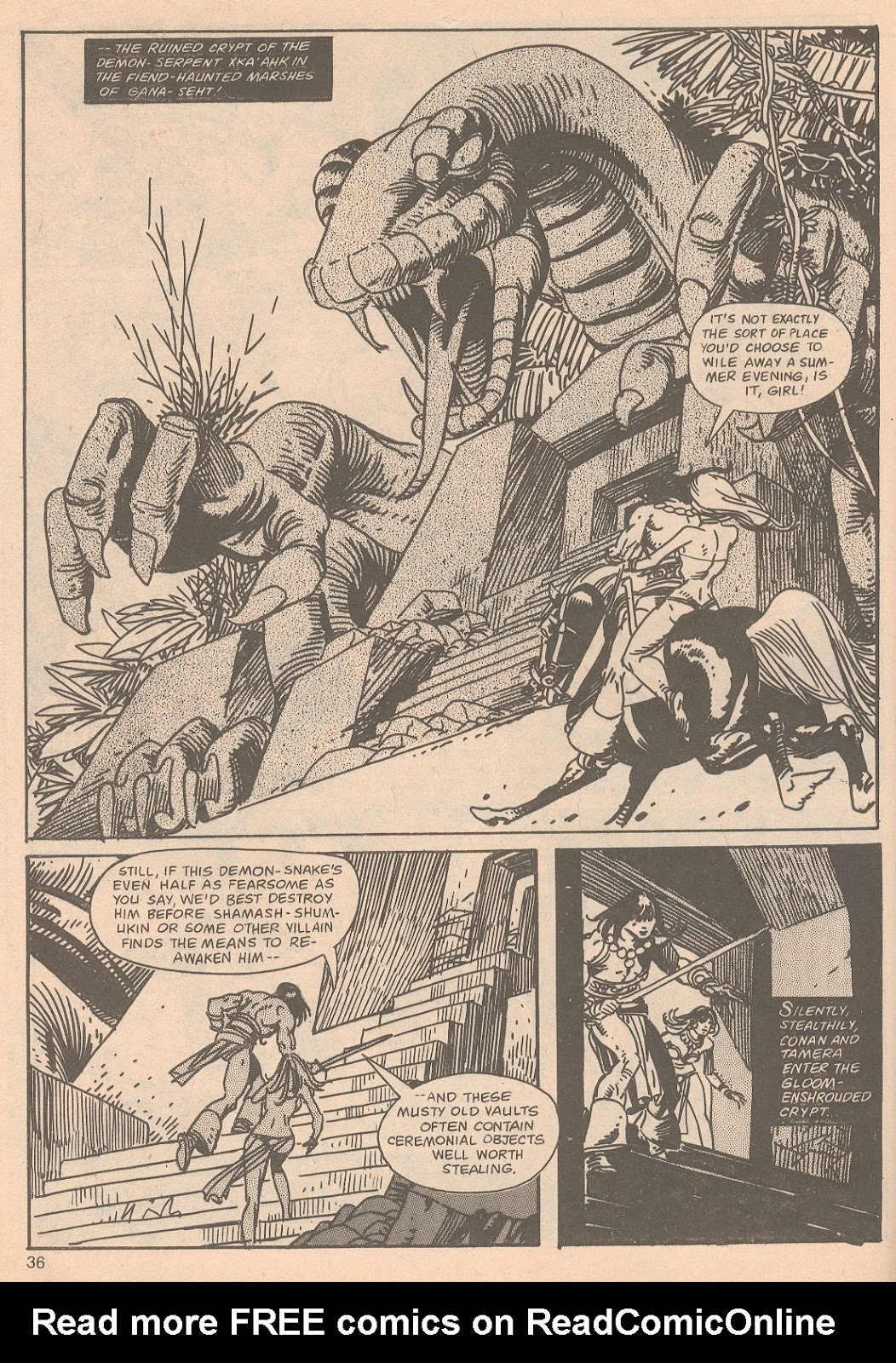 The Savage Sword Of Conan Issue #65 #66 - English 36