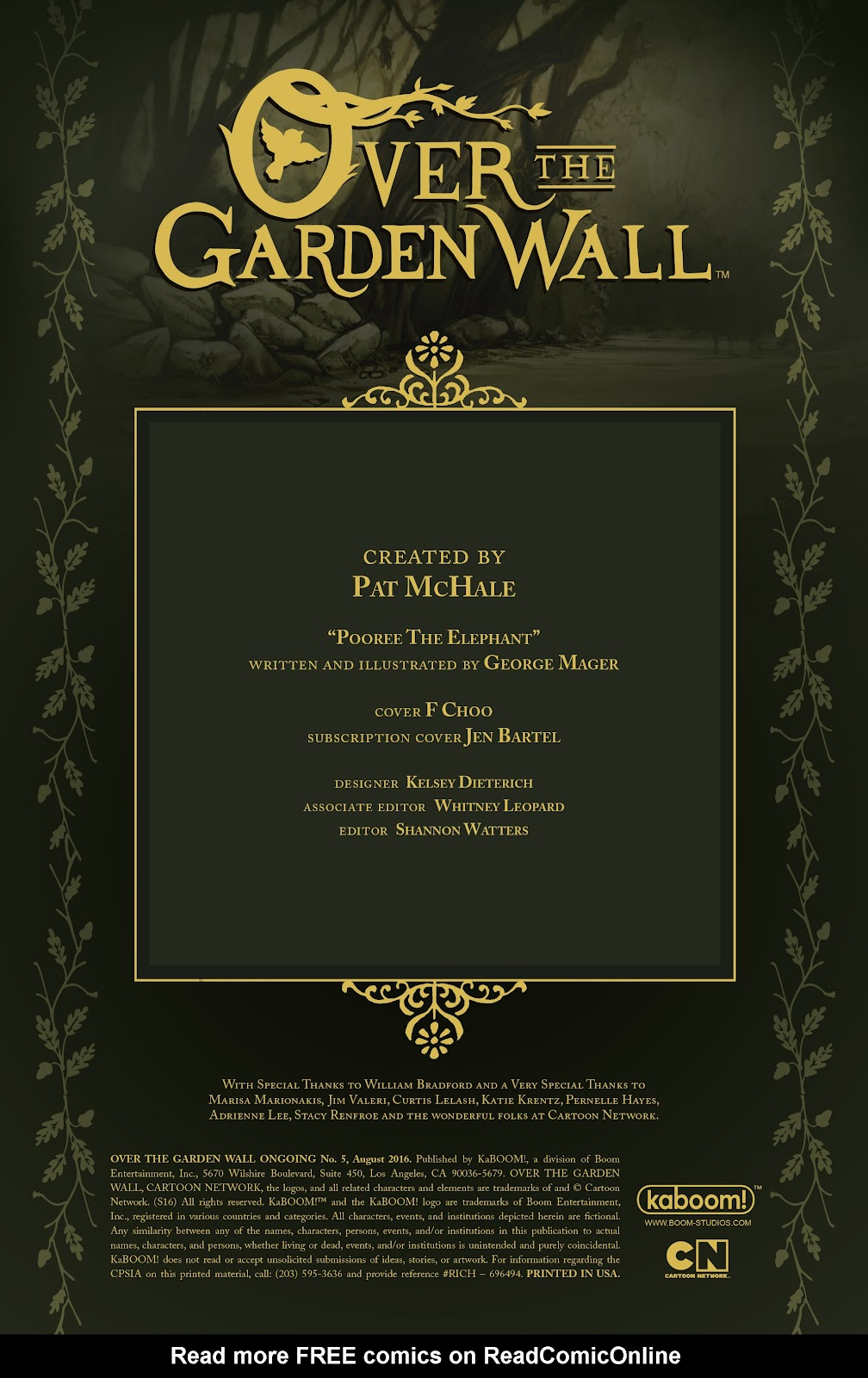 Over the Garden Wall (2016) Issue #5 #5 - English 2