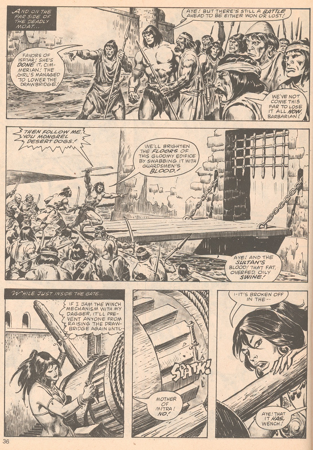 The Savage Sword Of Conan Issue #63 #64 - English 36