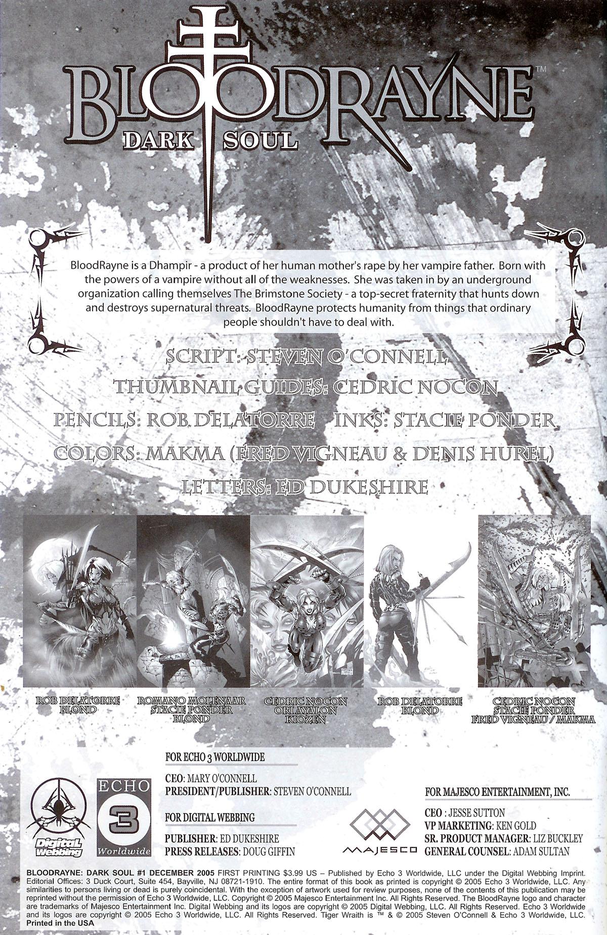Read online BloodRayne: Dark Soul comic -  Issue # Full - 2