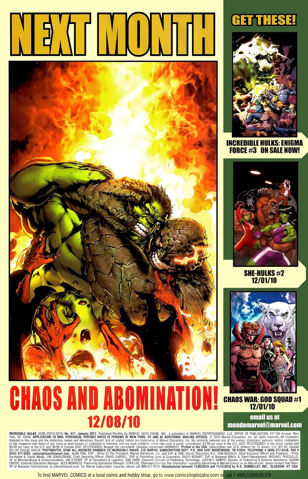Incredible Hulks (2010) Issue #617 #7 - English 33