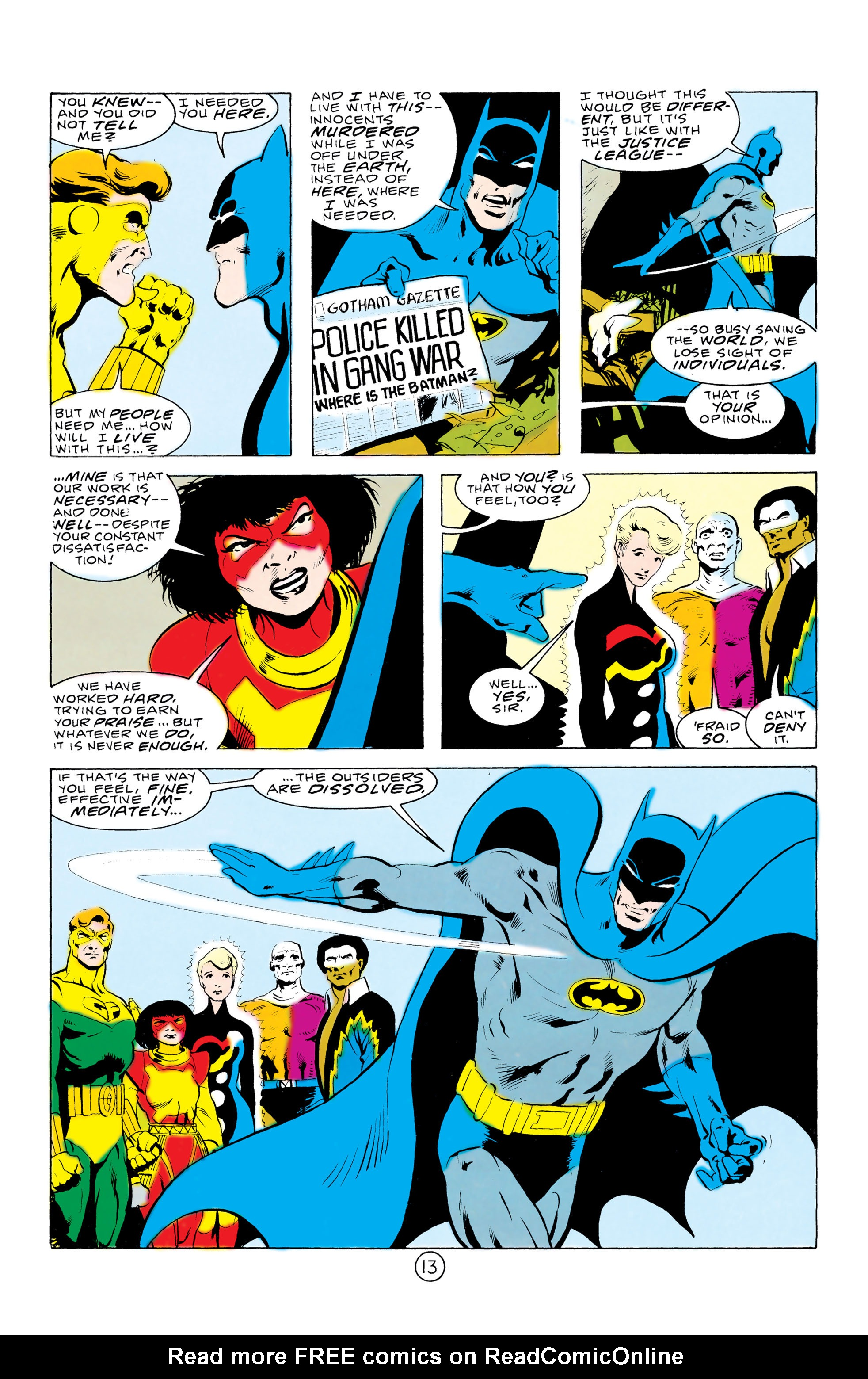 Batman and the Outsiders (1983) 32 Page 13