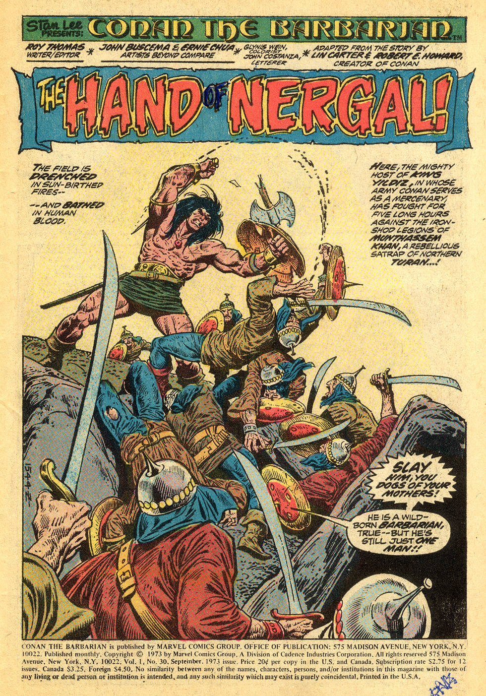 Conan the Barbarian (1970) Issue #30 #42 - English 2