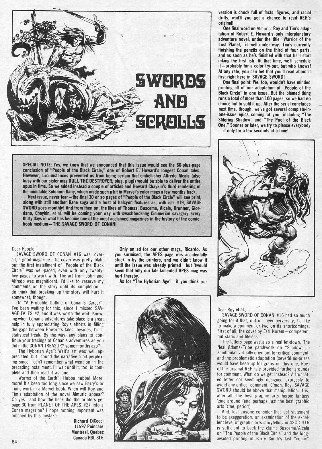 The Savage Sword Of Conan Issue #18 #19 - English 64
