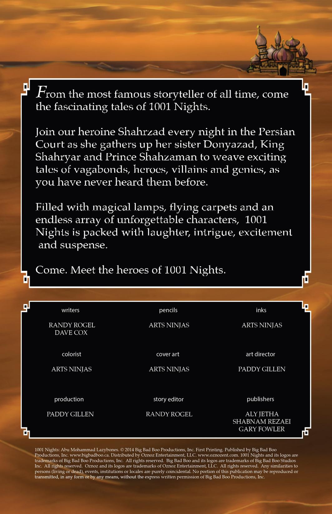 1001 Nights 8 Page 1