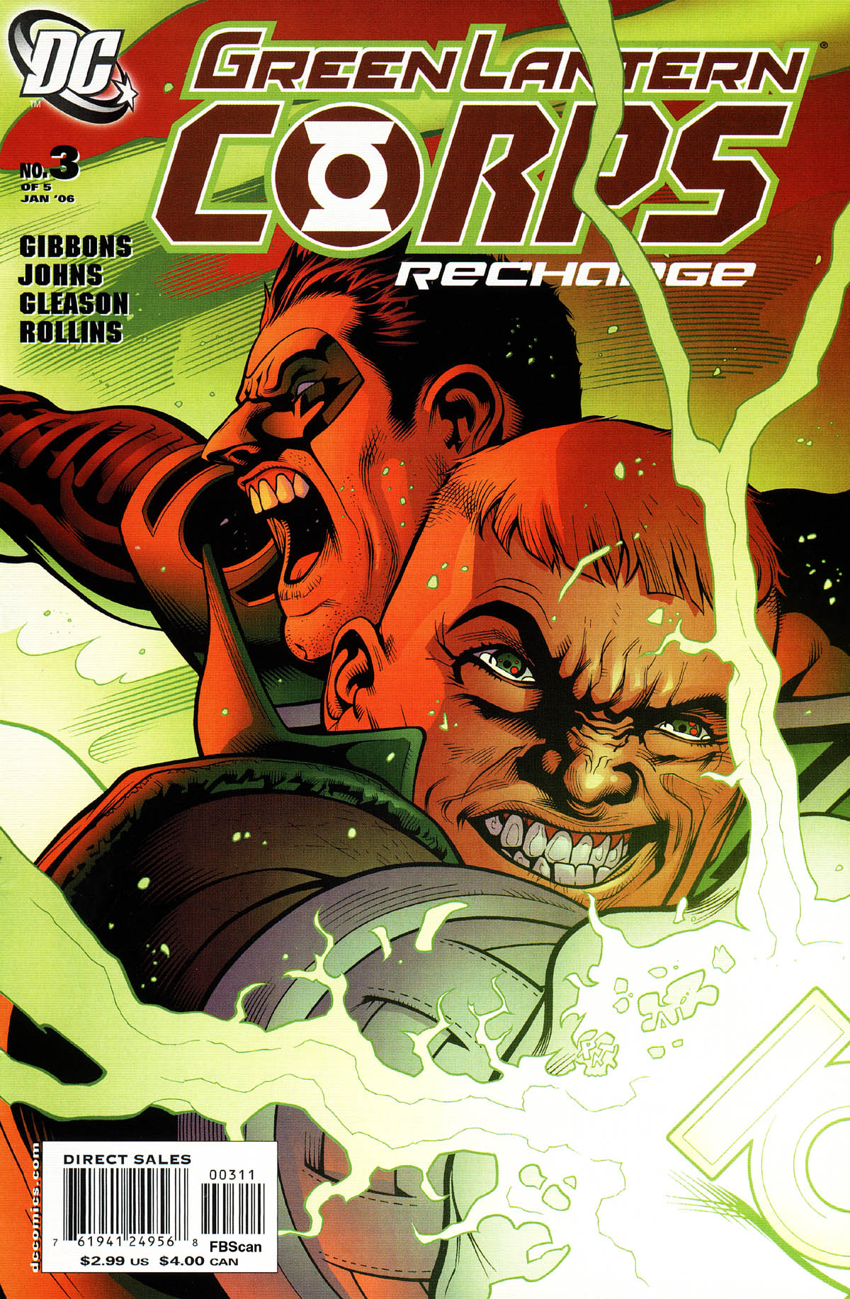 Read online Green Lantern Corps: Recharge comic -  Issue #3 - 1