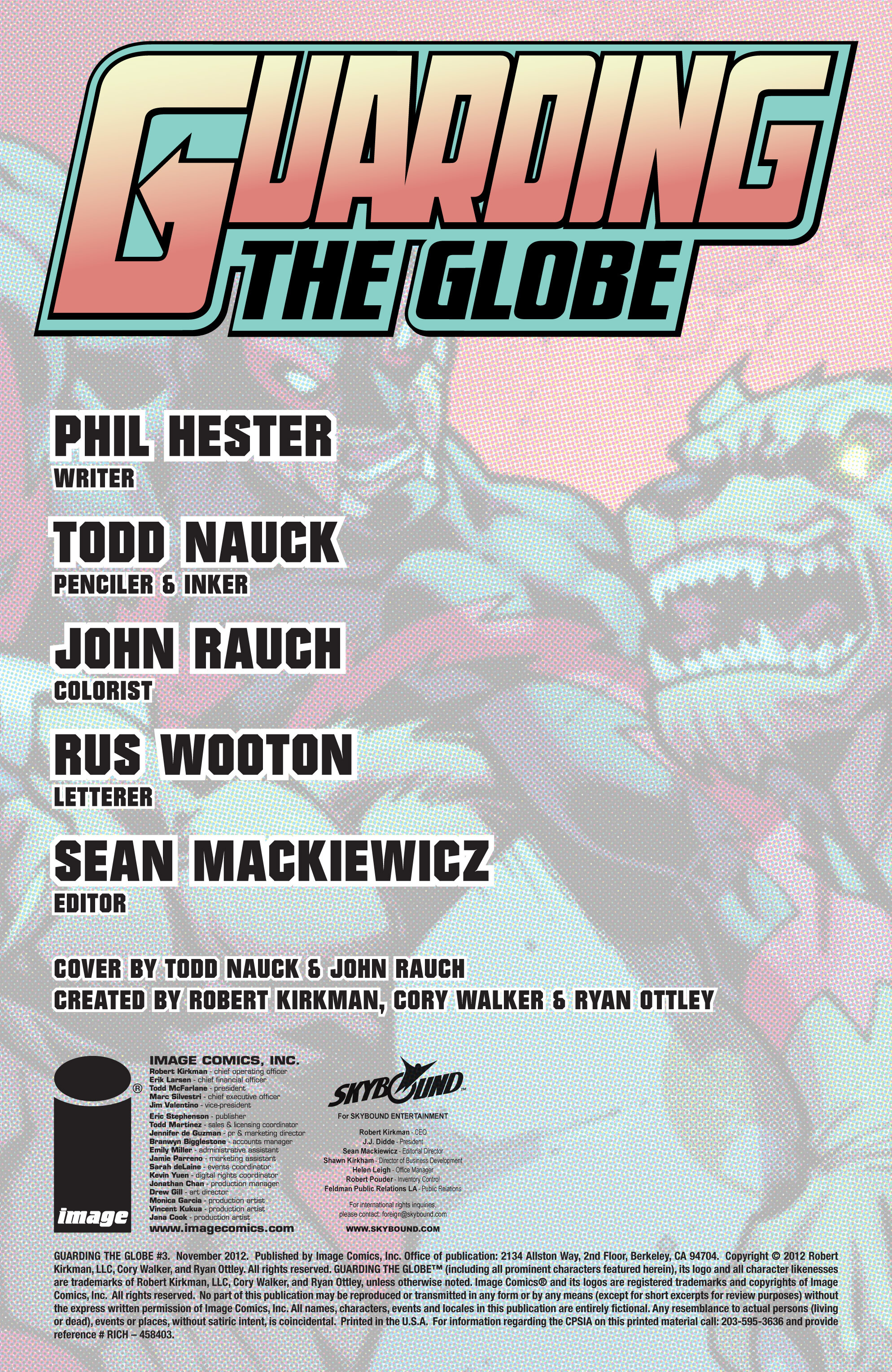 Read online Guarding the Globe (2012) comic -  Issue #3 - 2