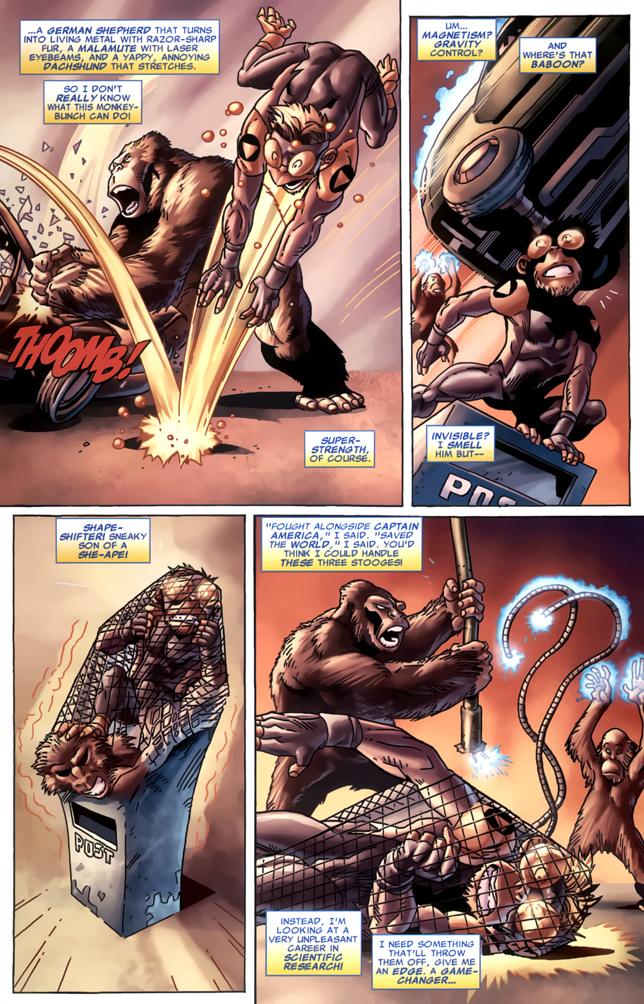 Read online Marvel Apes: Speedball Special comic -  Issue # Full - 21