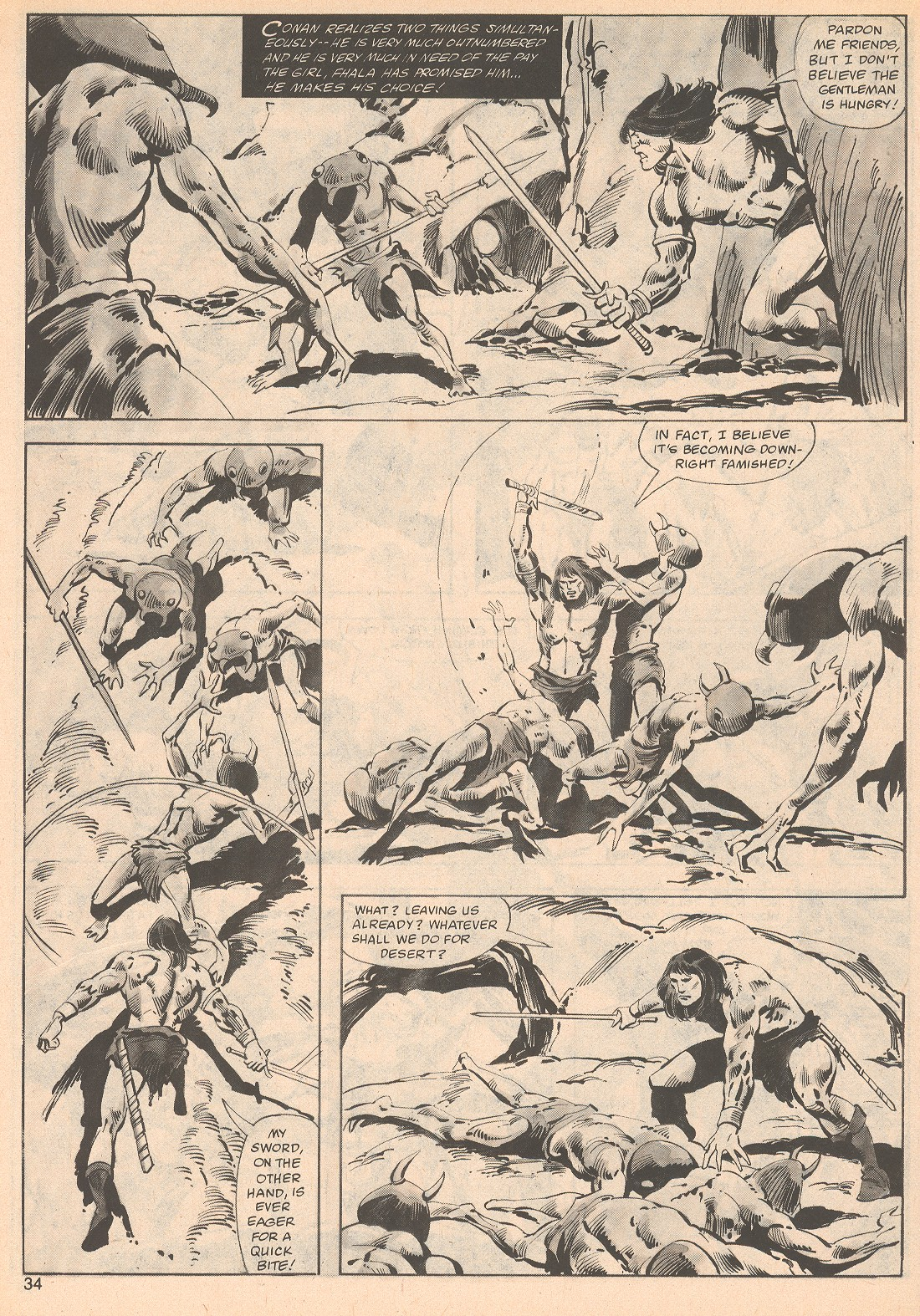 The Savage Sword Of Conan Issue #70 #71 - English 34