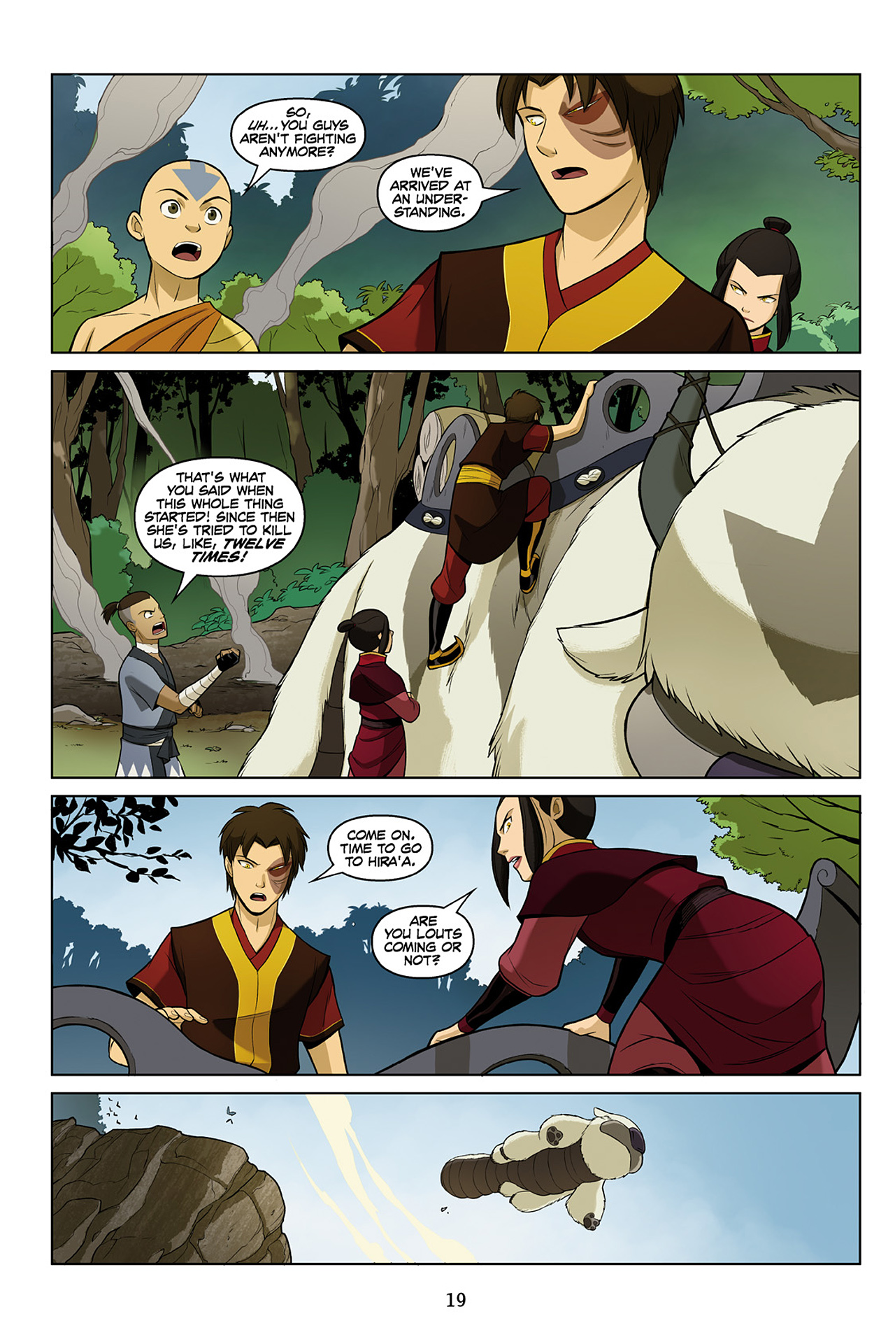 Read online Nickelodeon Avatar: The Last Airbender - The Search comic -  Issue # Part 2 - 20