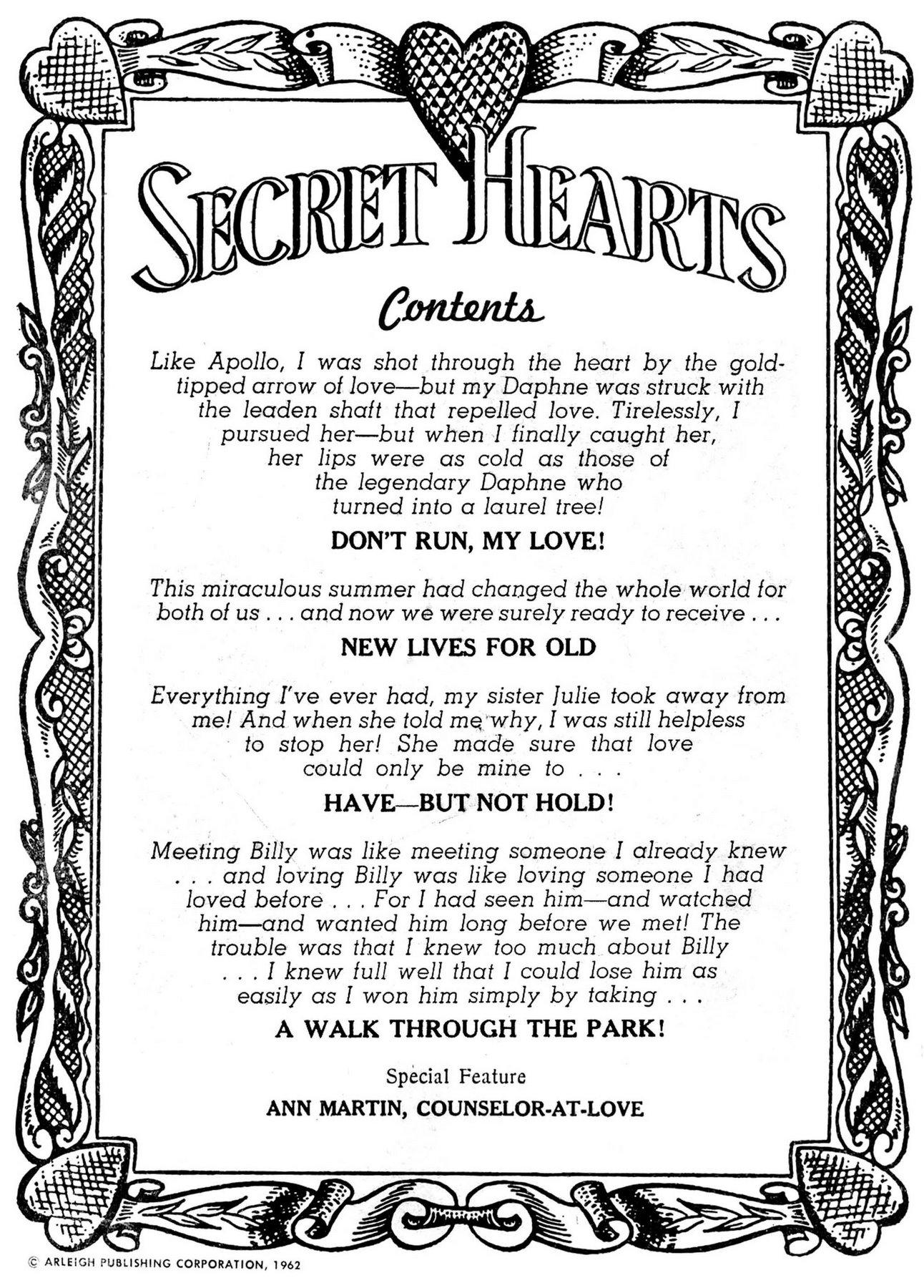 Read online Secret Hearts comic -  Issue #84 - 2