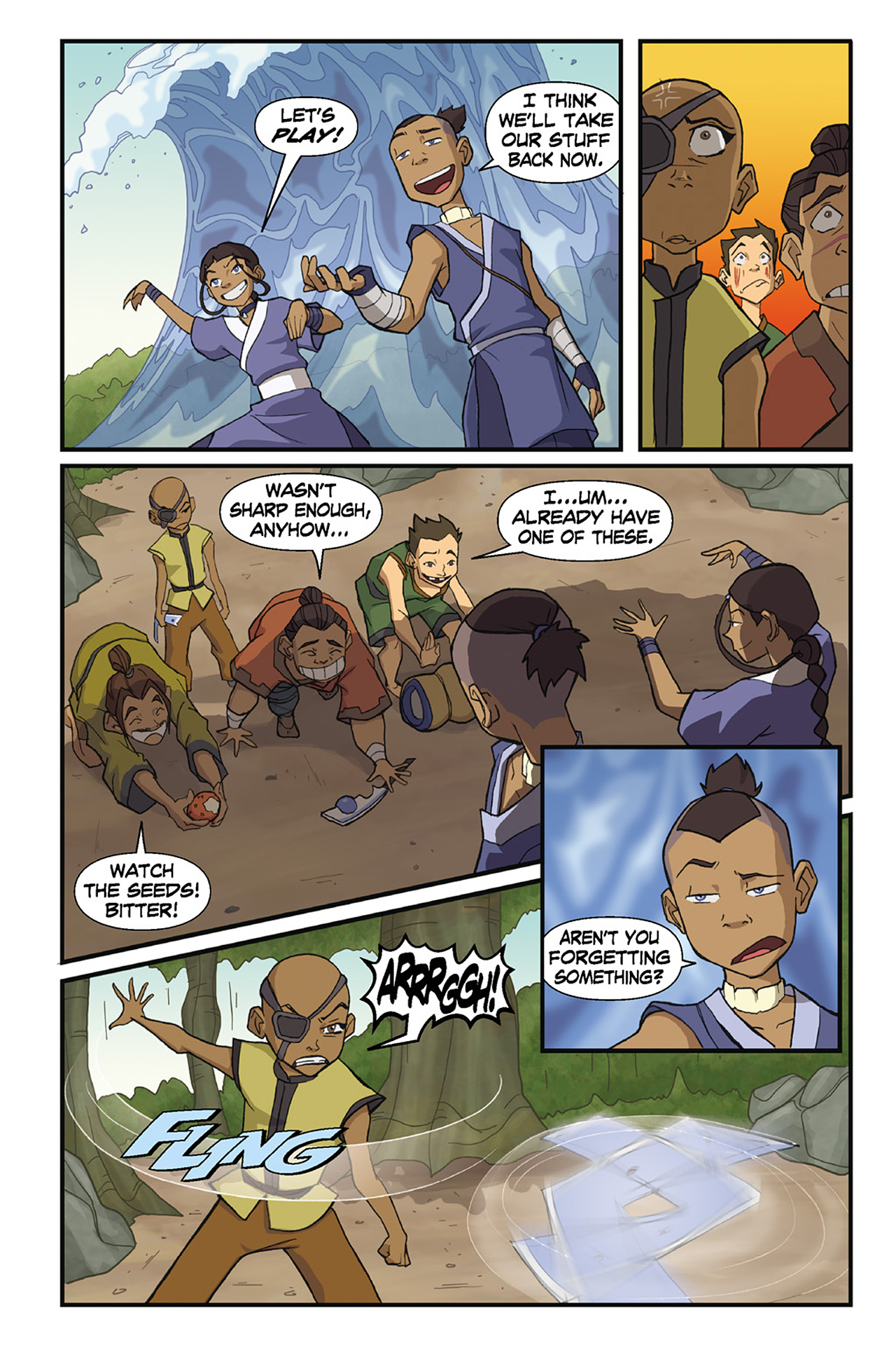 Nickelodeon Avatar: The Last Airbender - The Lost Adventures chap full pic 70
