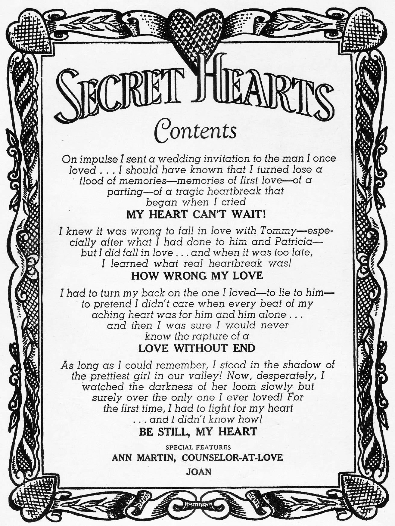 Read online Secret Hearts comic -  Issue #46 - 2
