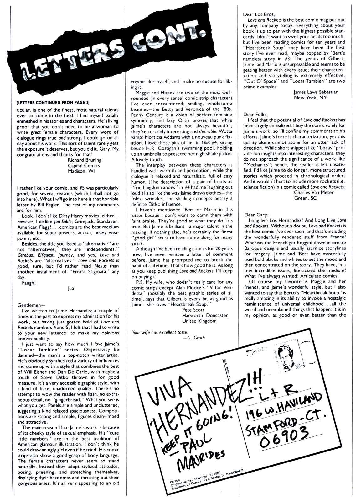 Love and Rockets (1982) Issue #7 #6 - English 32