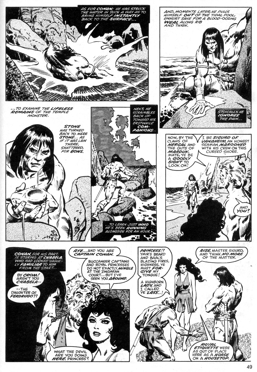 The Savage Sword Of Conan Issue #40 #41 - English 49