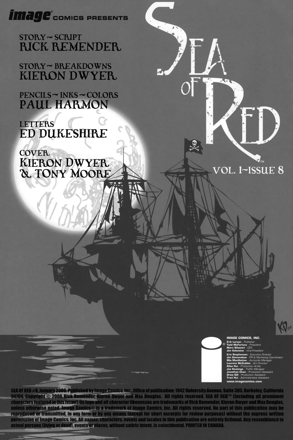 Read online Sea of Red comic -  Issue #8 - 2