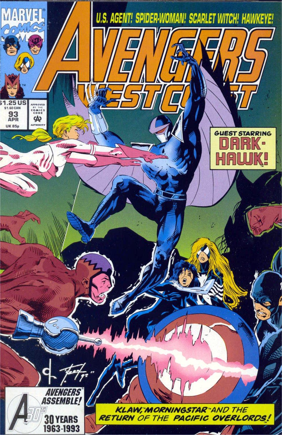 Avengers West Coast (1989) 93 Page 1