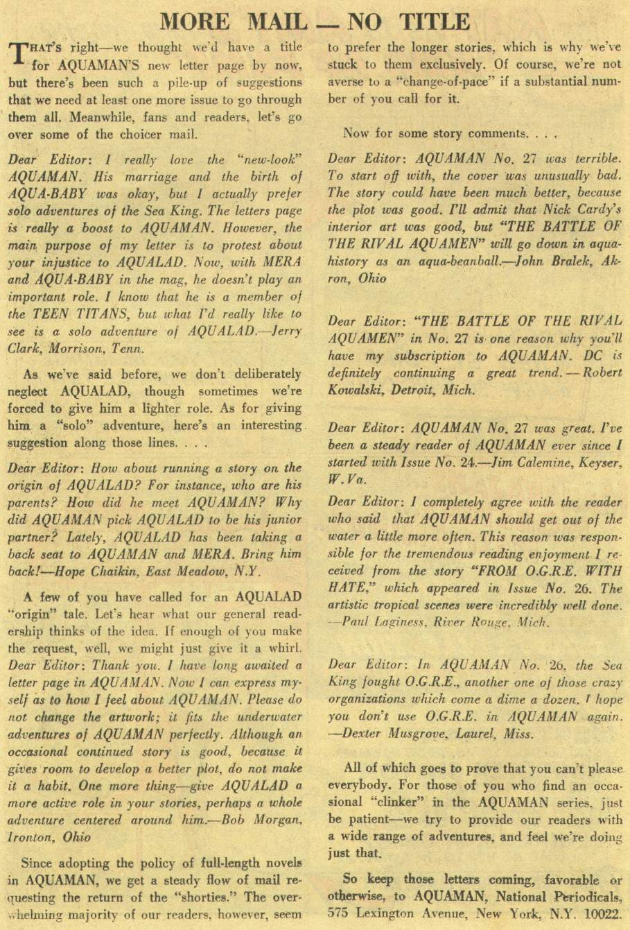 Aquaman (1962) Issue #29 #29 - English 24