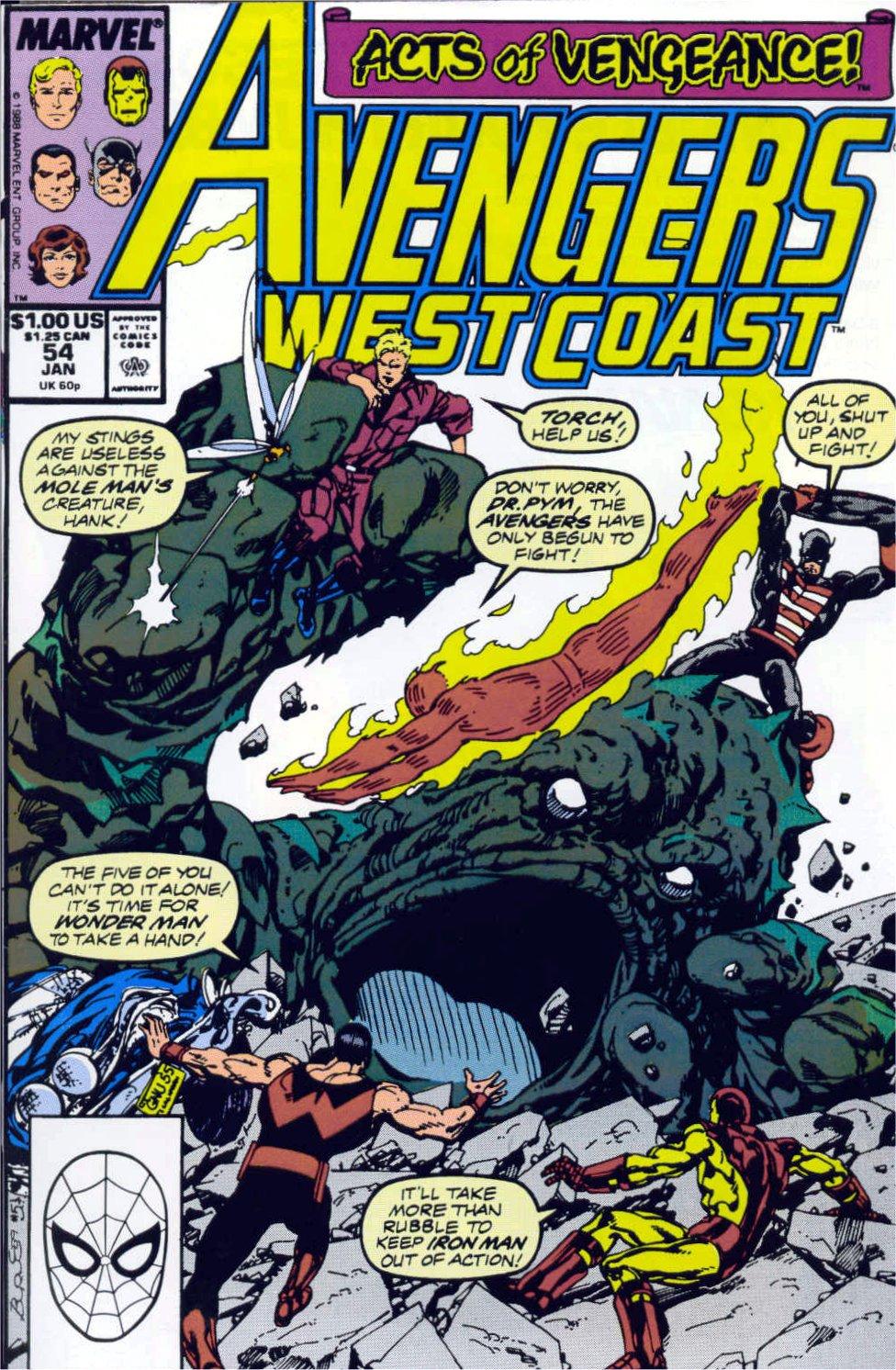 Avengers West Coast (1989) 54 Page 1