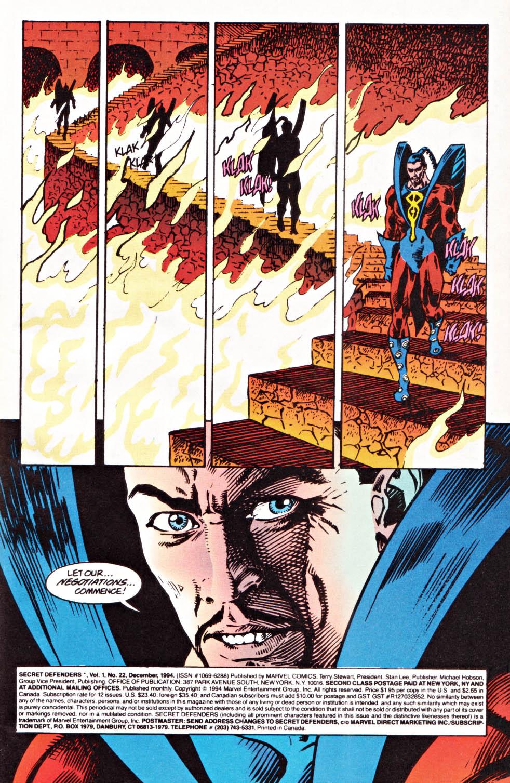 Read online Secret Defenders comic -  Issue #22 - 2