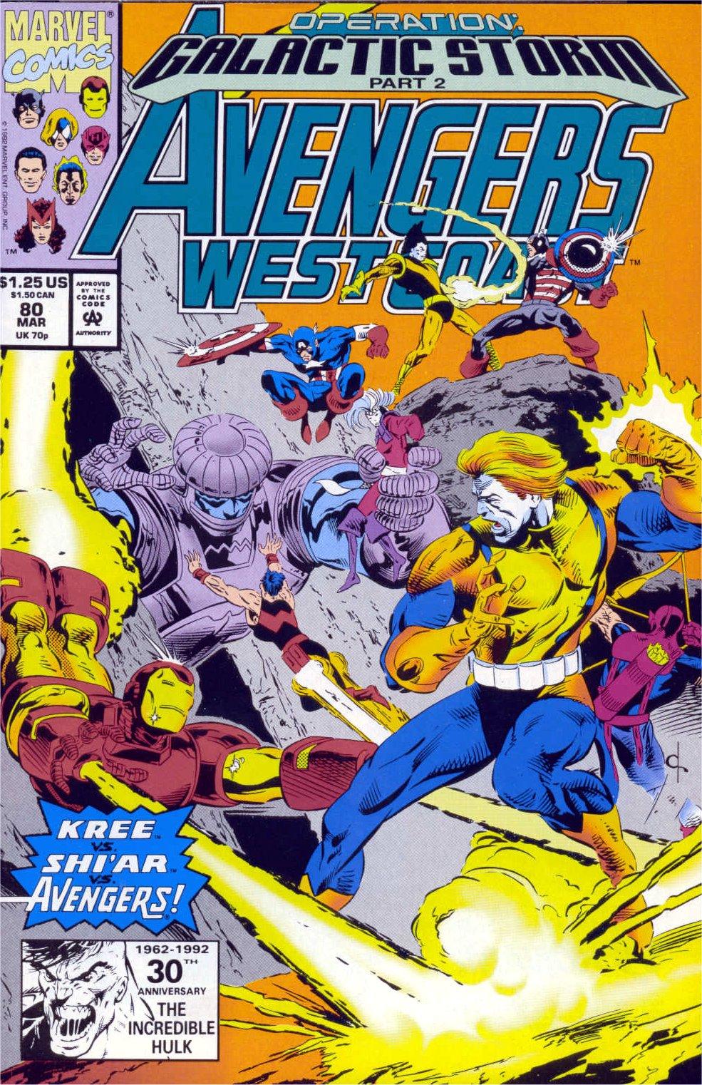 Avengers West Coast (1989) 80 Page 1