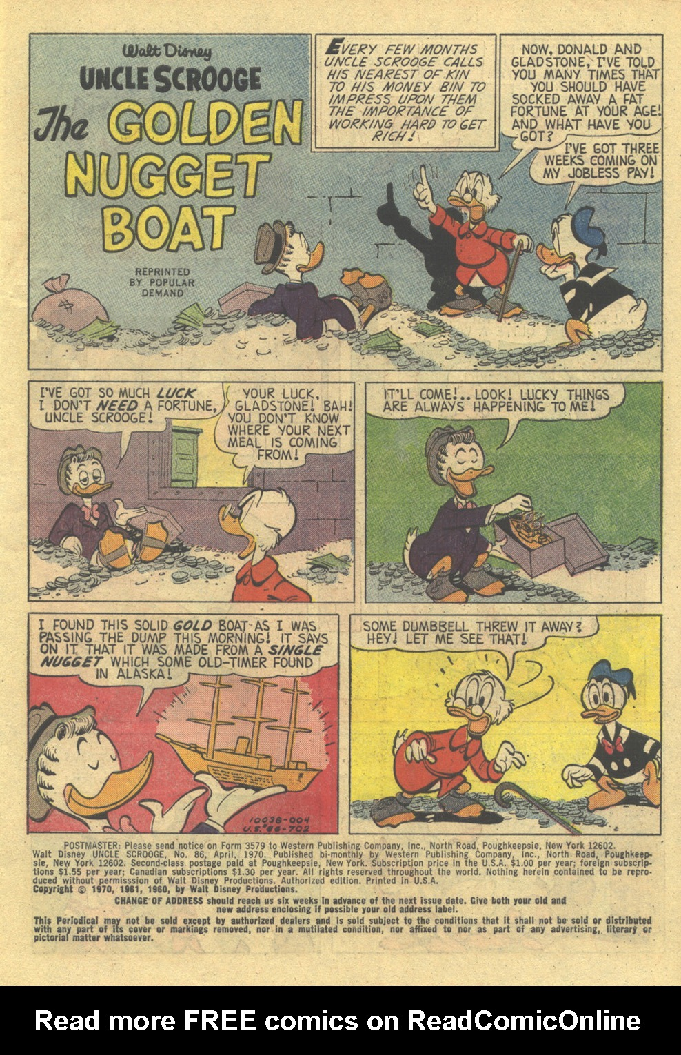 Uncle Scrooge (1953) Issue #86 #86 - English 3