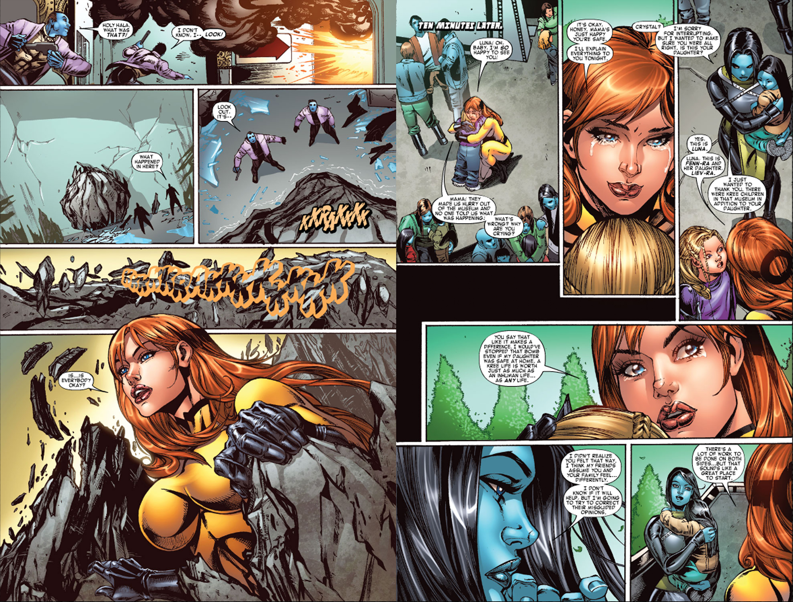 Read online War of Kings: Warriors - Crystal comic -  Issue #2 - 4