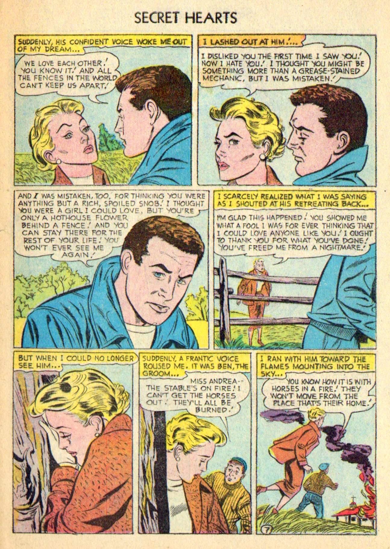 Read online Secret Hearts comic -  Issue #31 - 33