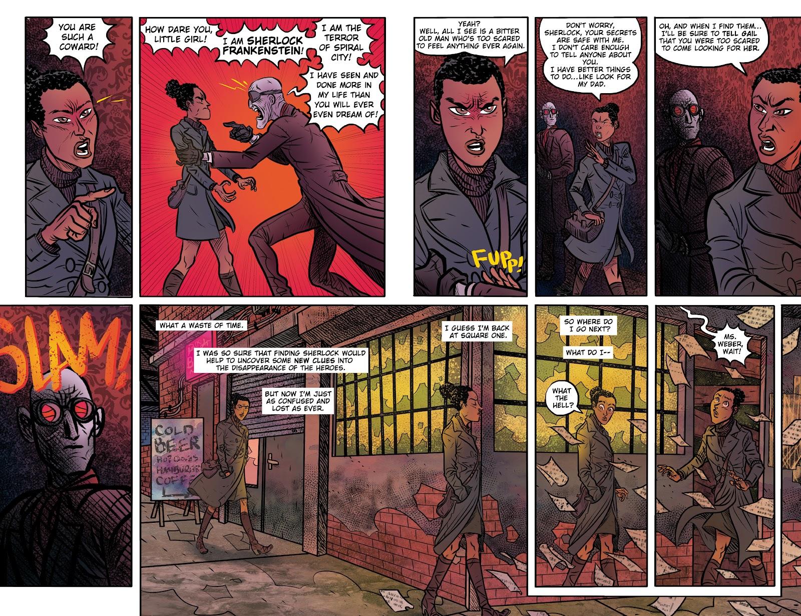 Read online Sherlock Frankenstein and the Legion of Evil comic -  Issue #4 - 13