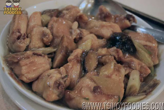 steamed chicken with mushroom