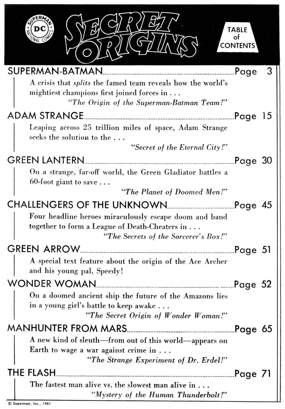 Read online Secret Origins (1961) comic -  Issue # Full - 2