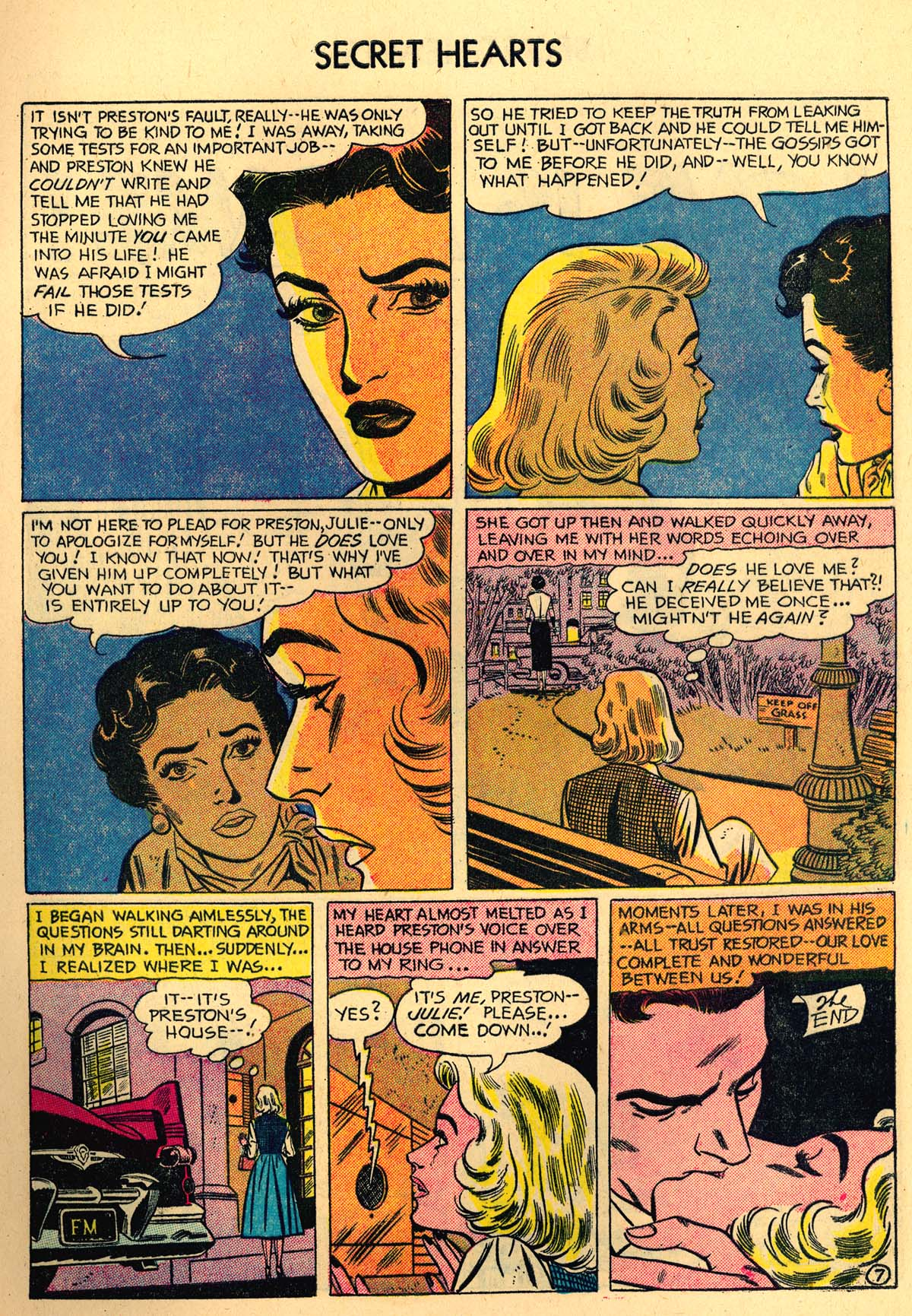 Read online Secret Hearts comic -  Issue #35 - 9