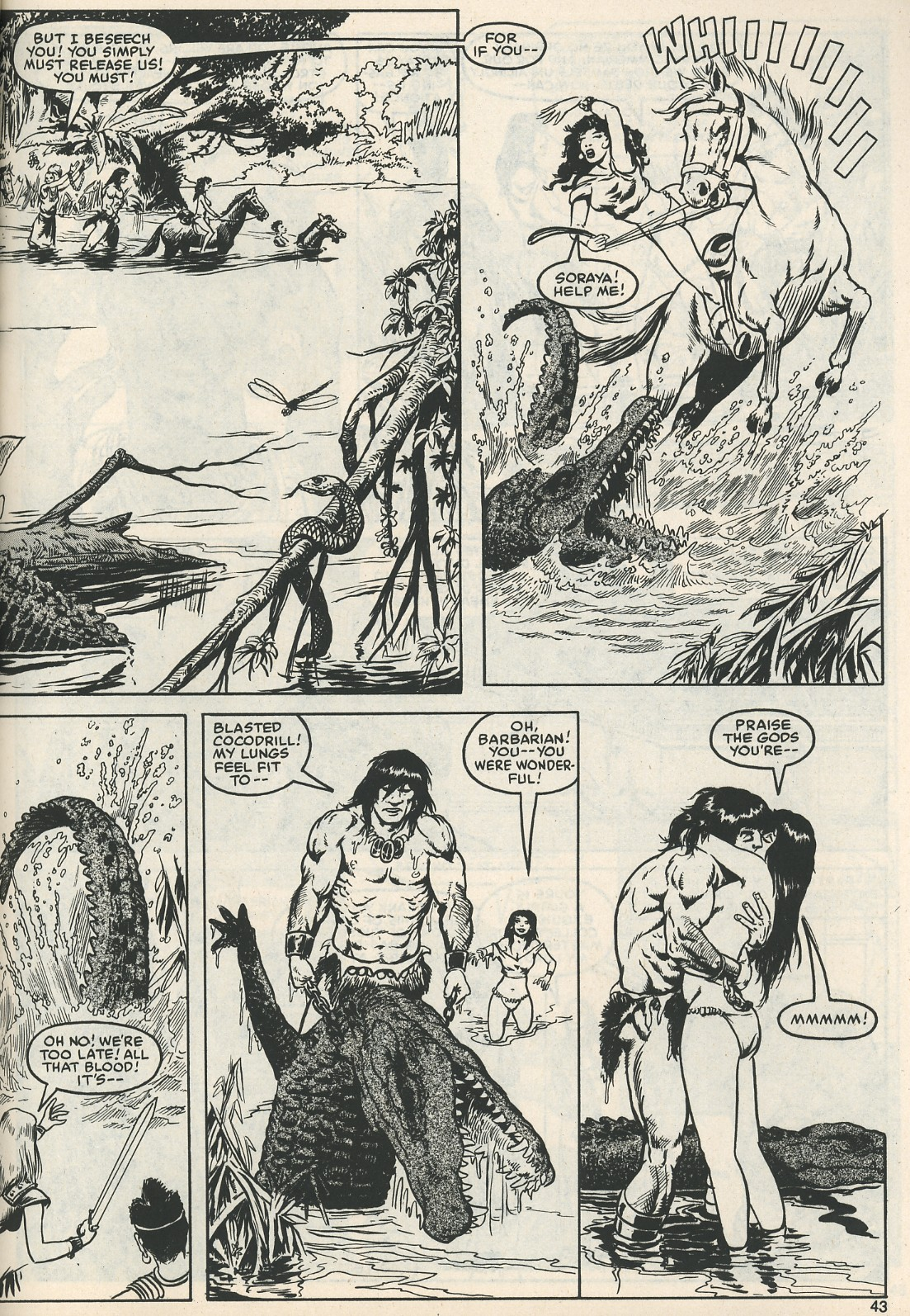 The Savage Sword Of Conan Issue #111 #112 - English 45
