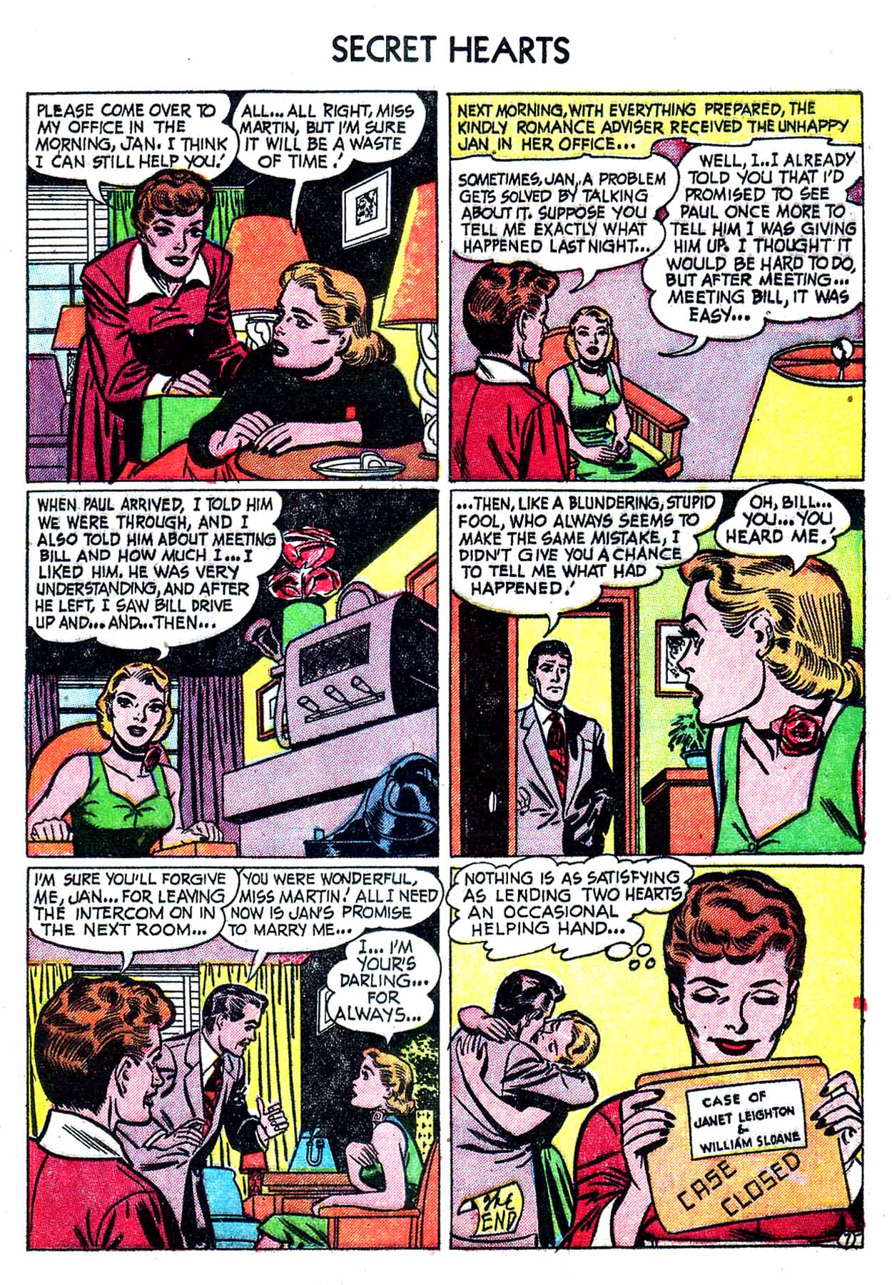 Read online Secret Hearts comic -  Issue #8 - 17