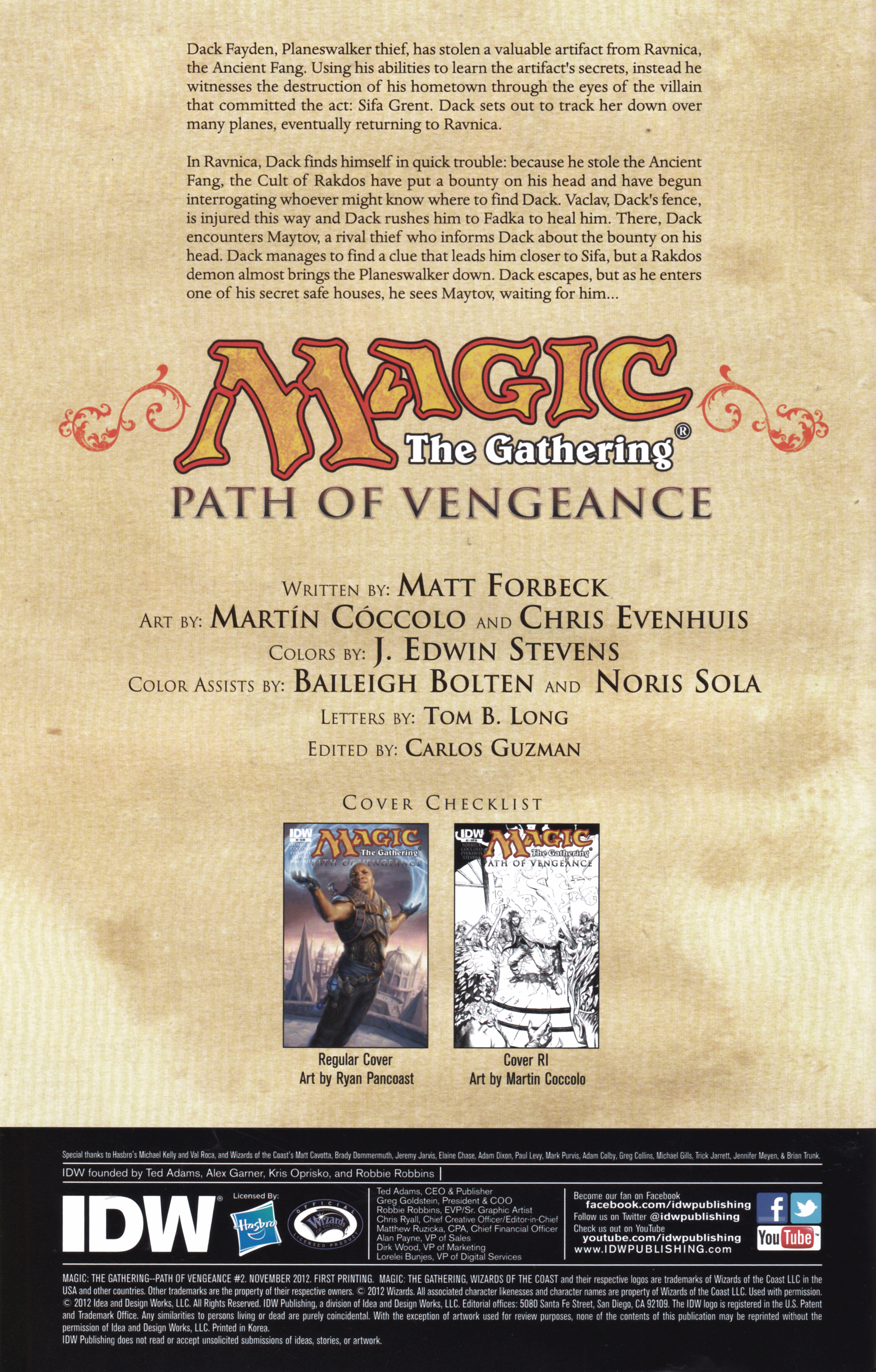 Read online Magic: The Gathering--Path of Vengeance comic -  Issue #2 - 2