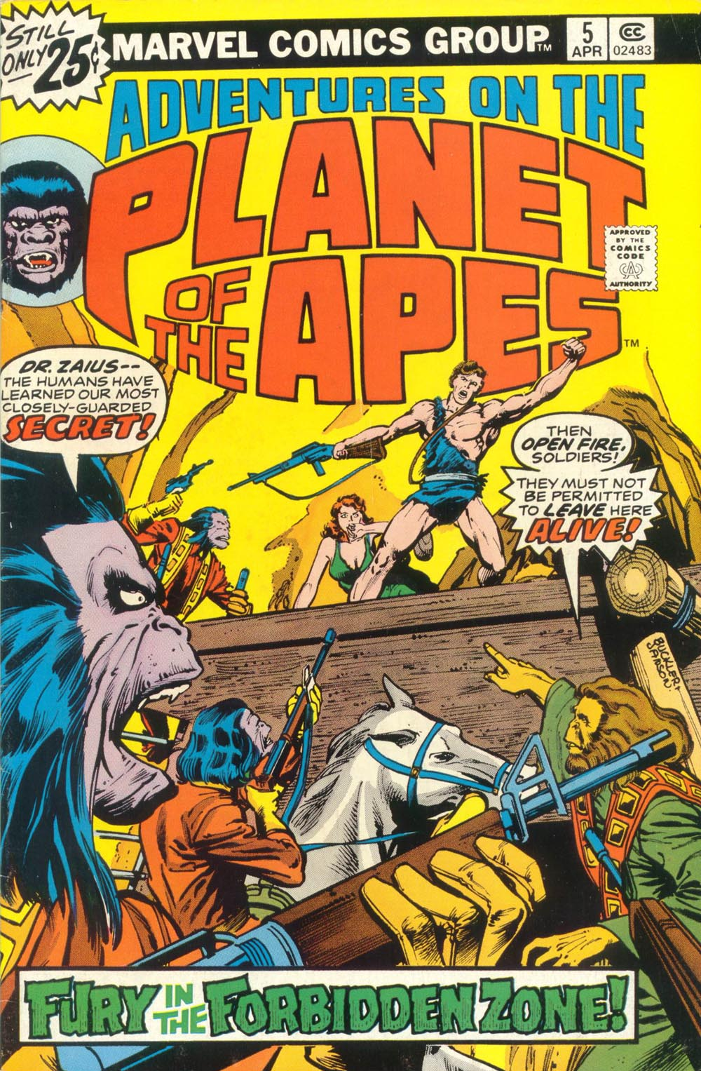 Adventures on the Planet of the Apes 5 Page 1
