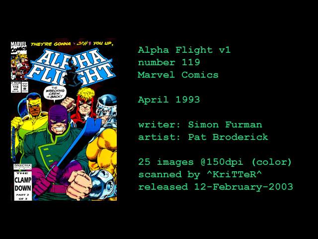 Alpha Flight (1983) 119 Page 1
