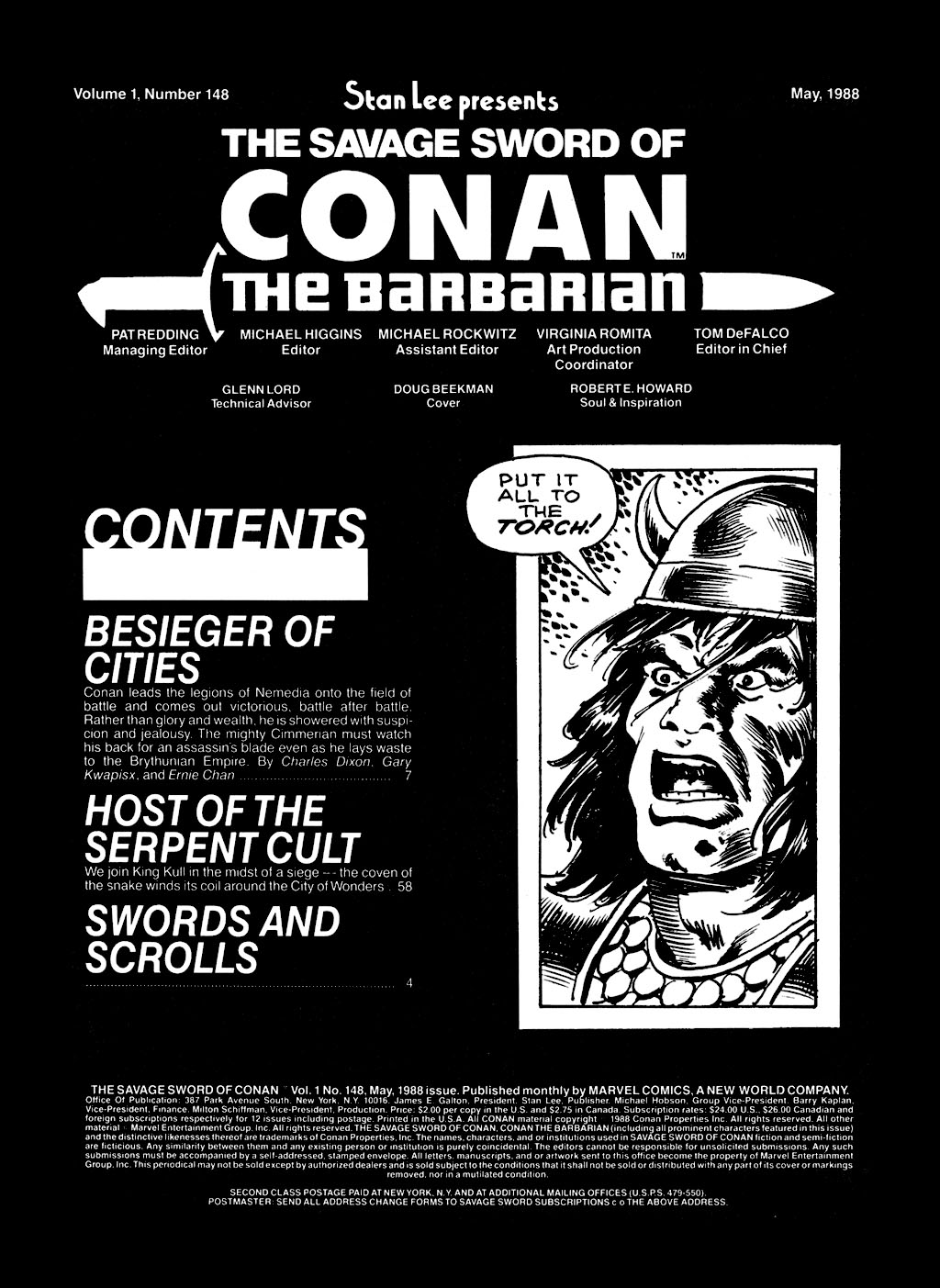 The Savage Sword Of Conan Issue #148 #149 - English 3