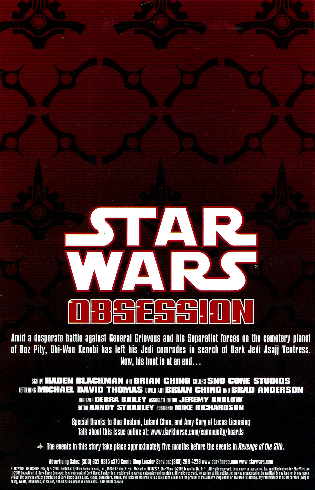 Star Wars: Obsession #5 #5 - English 2