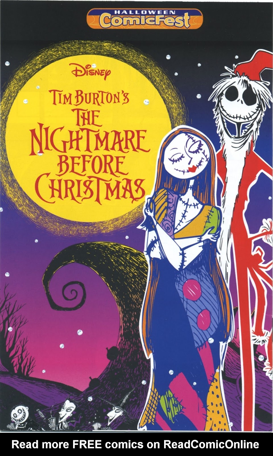 tim burtons the nightmare before christmas halloween comicfest full page 1 - The Nightmare Before Christmas Free Online