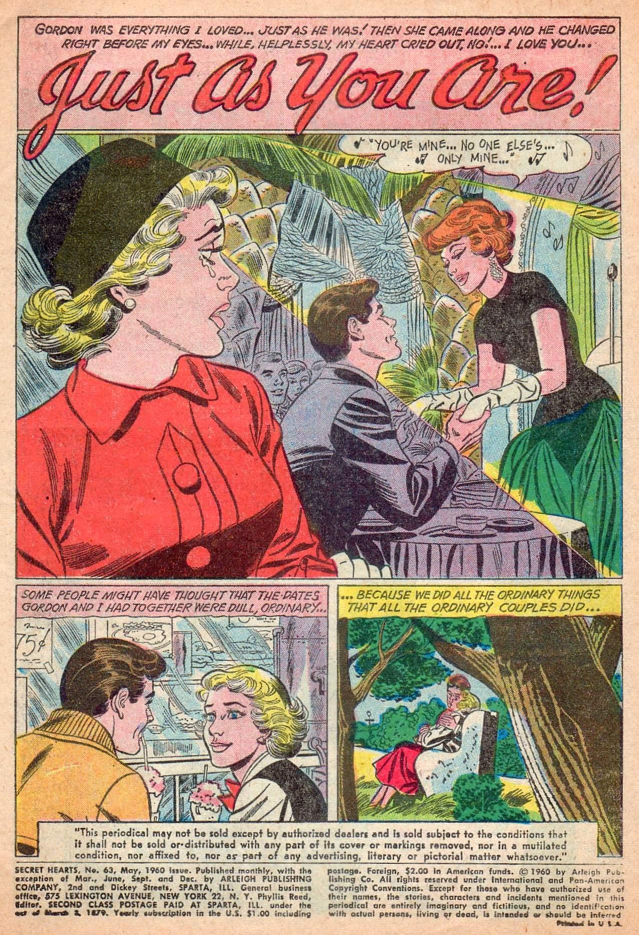 Read online Secret Hearts comic -  Issue #63 - 3
