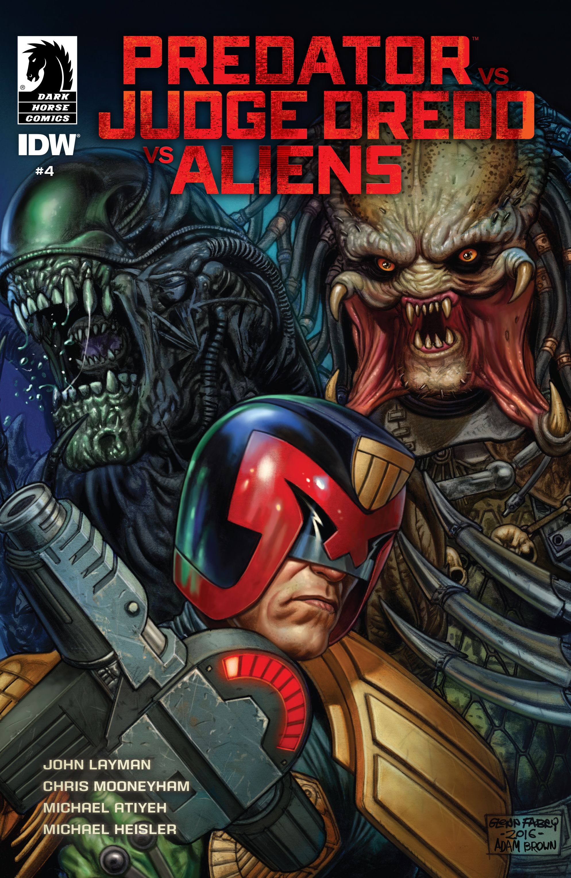 Predator Vs. Judge Dredd Vs. Aliens 4 Page 1