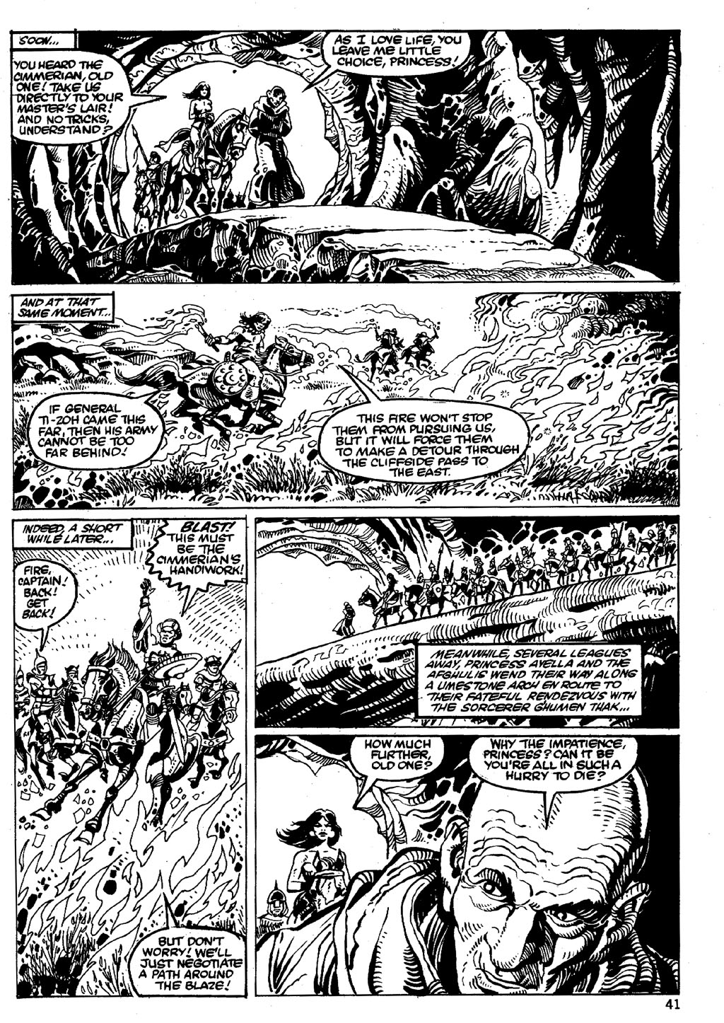 The Savage Sword Of Conan Issue #86 #87 - English 41
