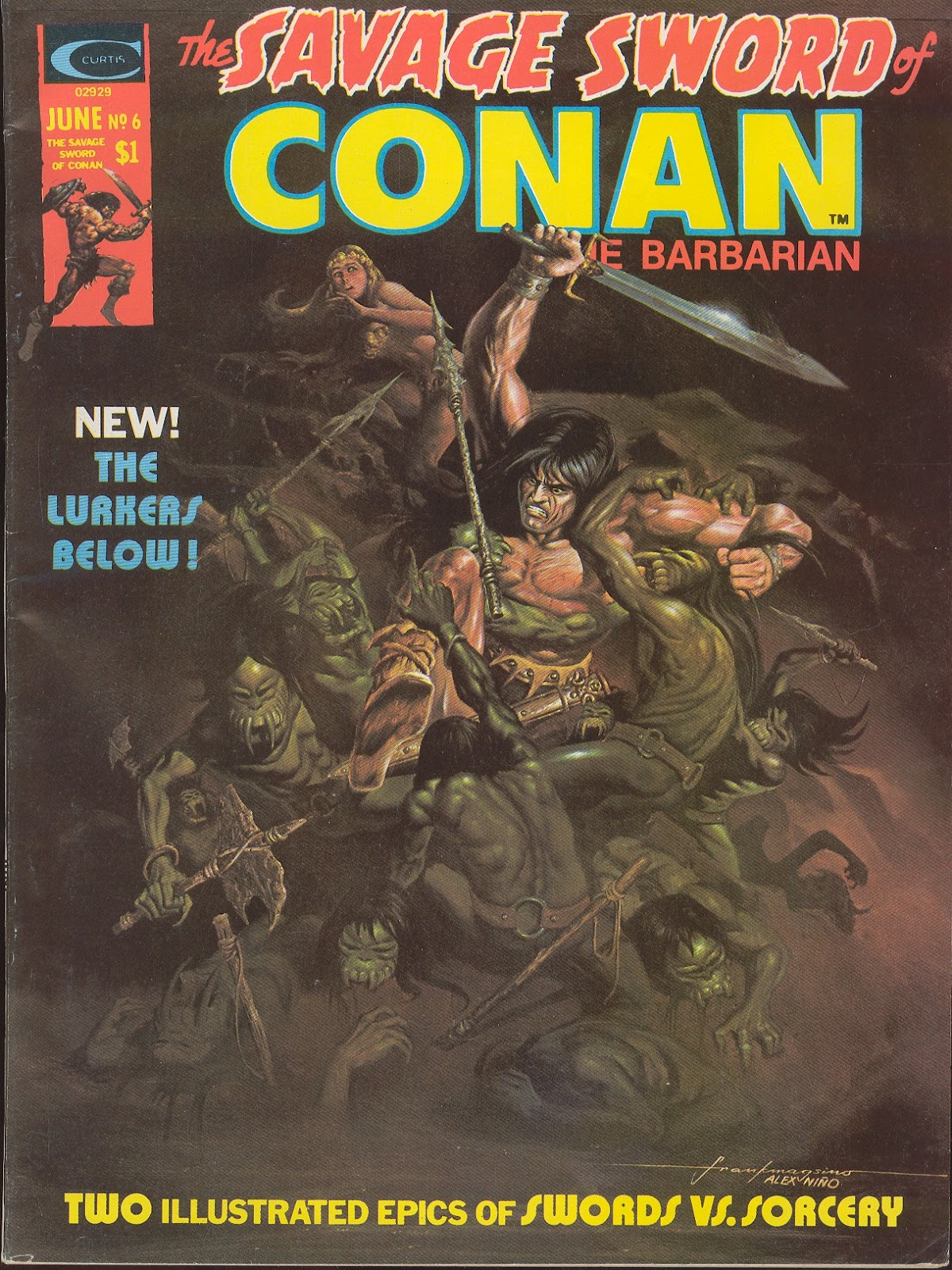 The Savage Sword Of Conan Issue #6 #7 - English 1