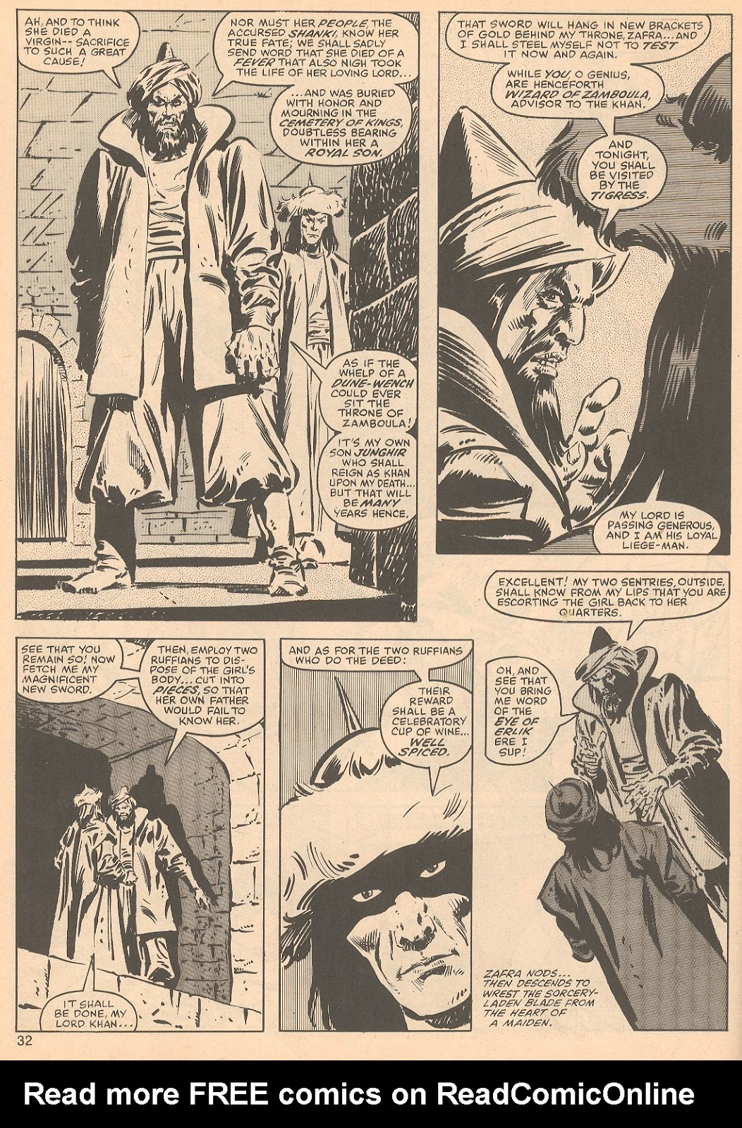 The Savage Sword Of Conan Issue #56 #57 - English 32