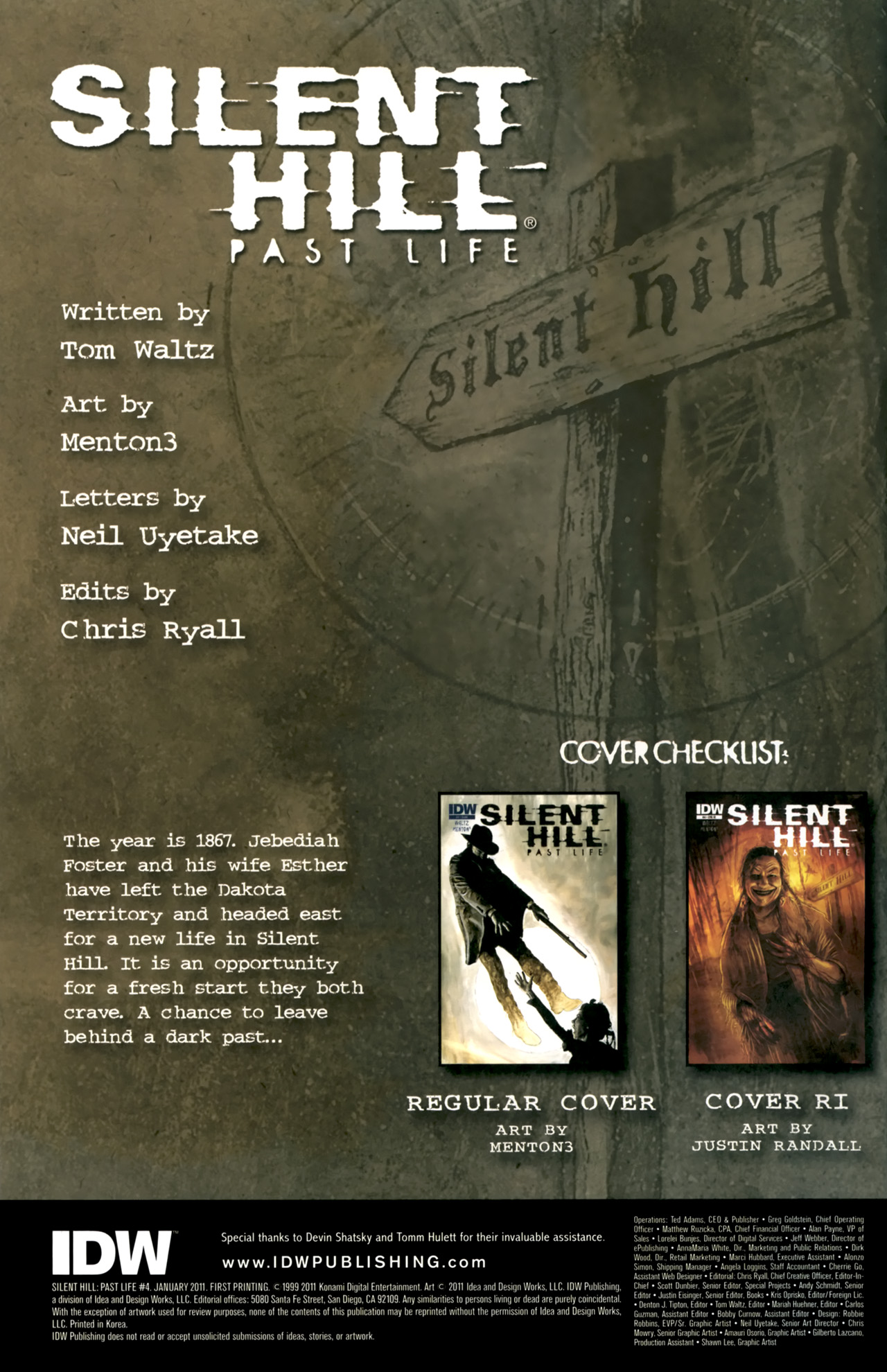 Read online Silent Hill: Past Life comic -  Issue #4 - 2