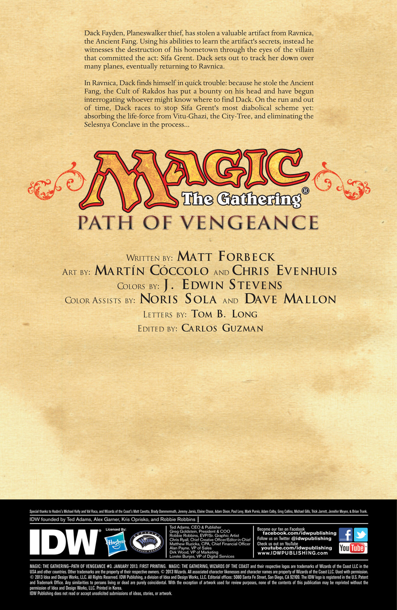 Read online Magic: The Gathering--Path of Vengeance comic -  Issue #3 - 2