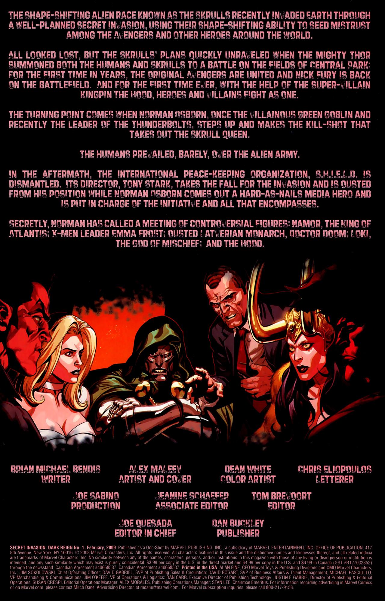 Read online Secret Invasion: Dark Reign comic -  Issue # Full - 3